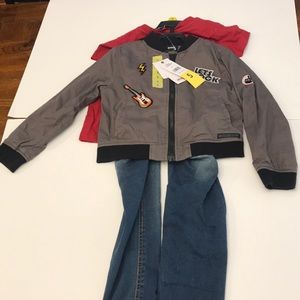Hudson 3 piece zip up rock jacket, jeans and shirt
